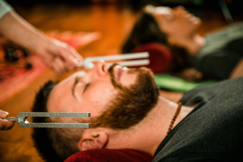 healing sound with tuning forks